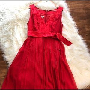 Red 100% Silk cocktail dress
